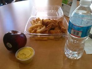 Chicken Tender Lunch - Working at University of MD Medical Center